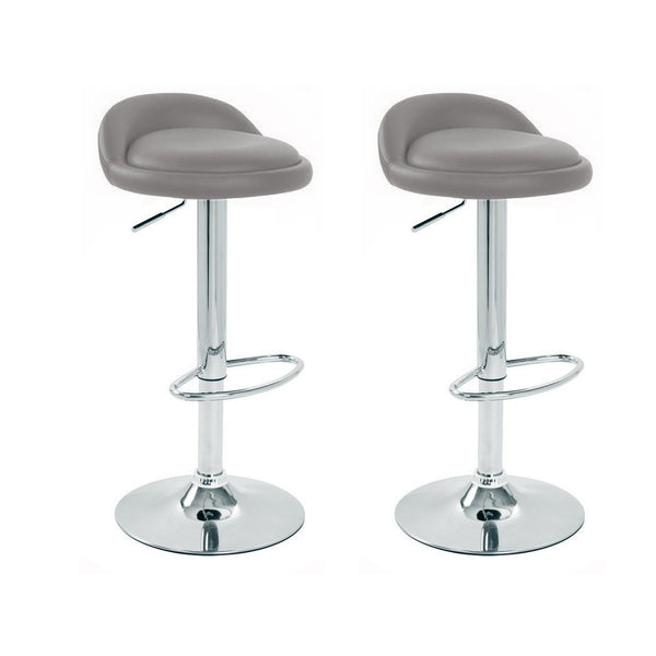 BS02 Low Bar Stool (Grey) Set of 2