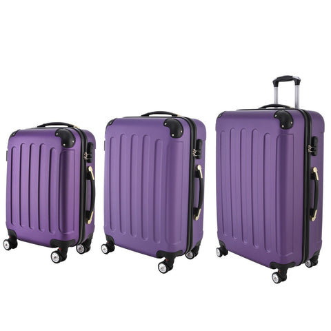 AS16 Travel Luggage (Purple) Set of 3
