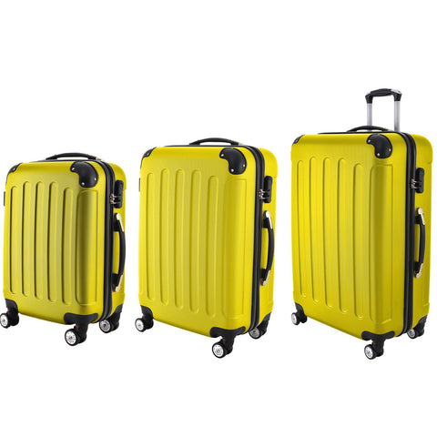 AS16 Travel Luggage (Yellow) Set of 3