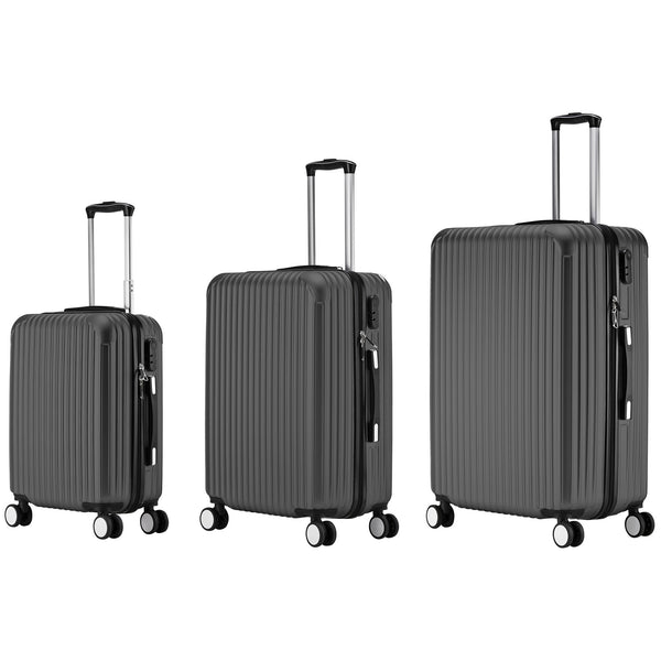 AS62-ABS Luggage (Black) Set of 3