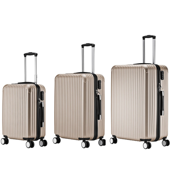 AS62-ABS Luggage (Champagne) Set of 3