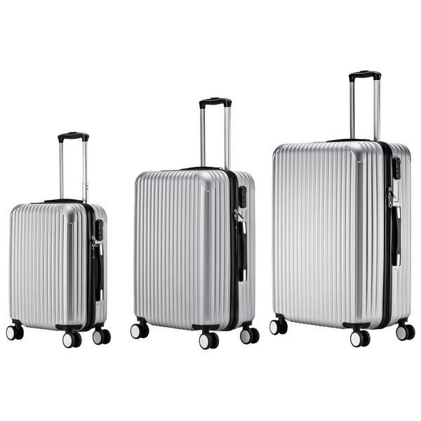 AS62-ABS Luggage (Silver) Set of 3
