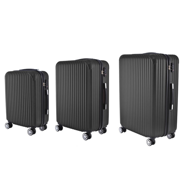 AS62-PC Luggage (Black) Set of 3