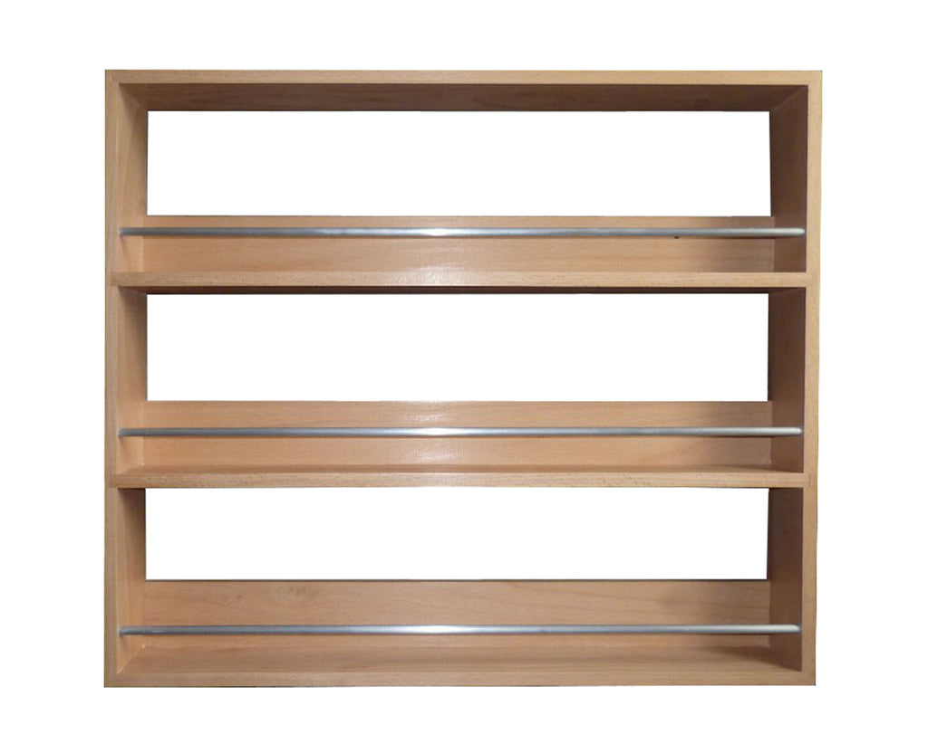 Solid beech spice rack 3 tiers shelves for spices herb jars silverapplewood