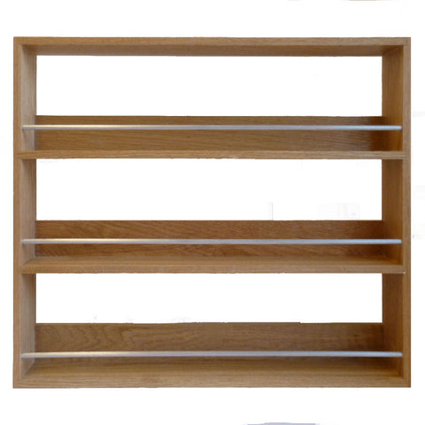 Solid Oak Spice Rack 3 Tiers / Shelves for Kitchen Herb & Spice Storage