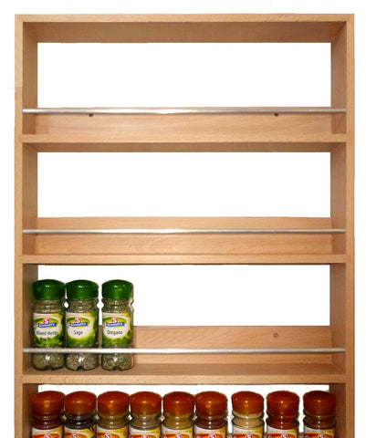 Solid Beech Spice Rack 5 Tiers / Shelves for Herbs & Spices