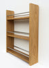 Solid Oak Spice Rack, 3 Tiers, Deep Capacity & Open Top for for Larger Jars, Bottles and Packets - SilverAppleWood