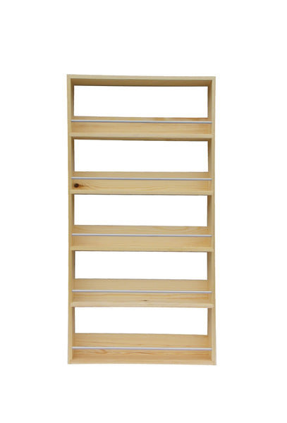 Solid Pine Spice Rack 5 Tiers Shelves Silverapplewood