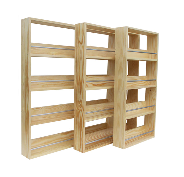 Solid Pine Spice Rack 4 Tiers Shelves Silverapplewood