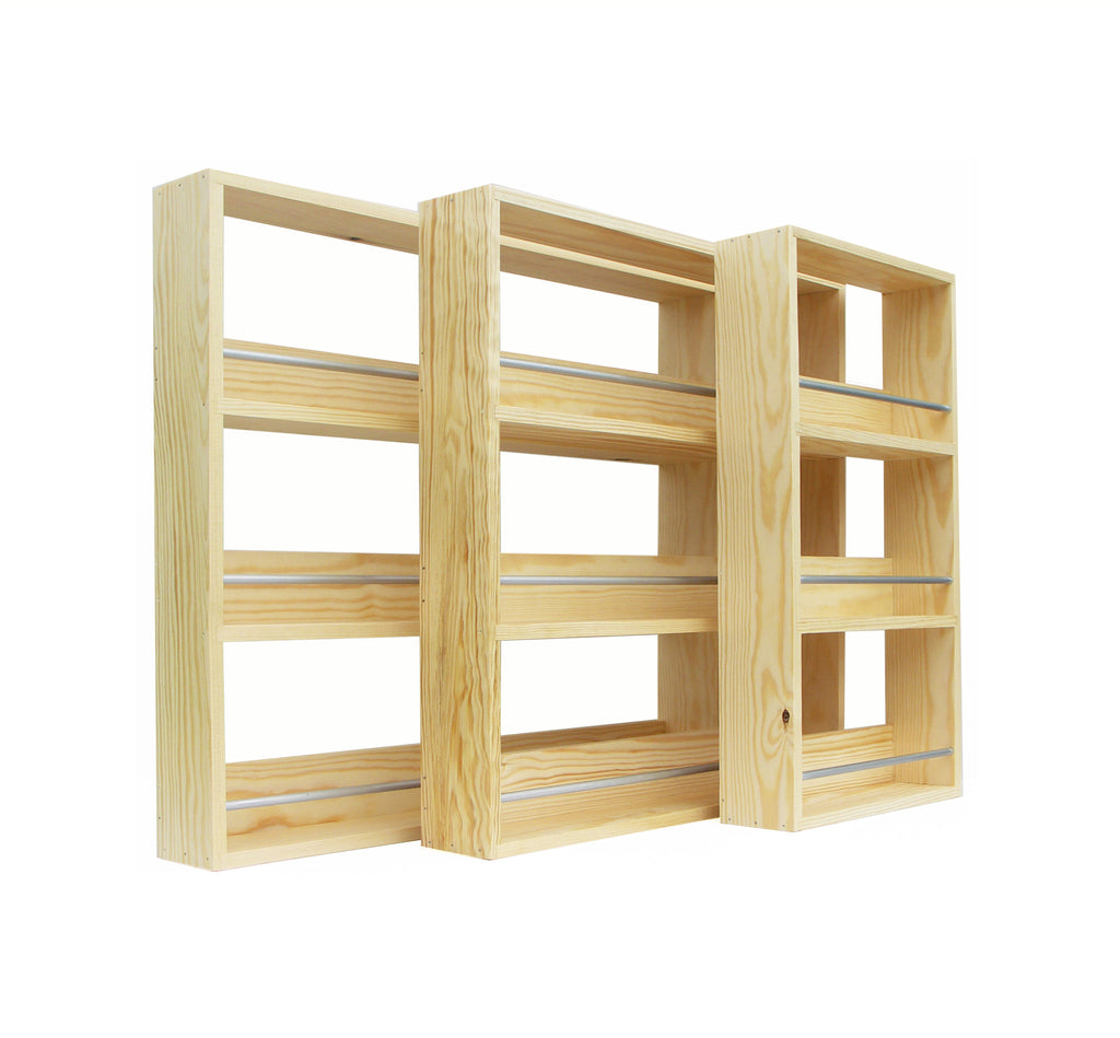 Woodworking Plans For Kitchen Spice Rack: Contemporary Style Solid Pine Spice Rack 3 Tiers / Shelves