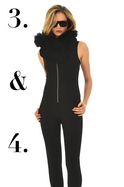 93c642158cd2 A stylish combination of our Nyoko fur trimmed snood by Goldbergh and the  sleek one piece Holly by Emmegi. This snood is not just for the ski slopes  as it ...