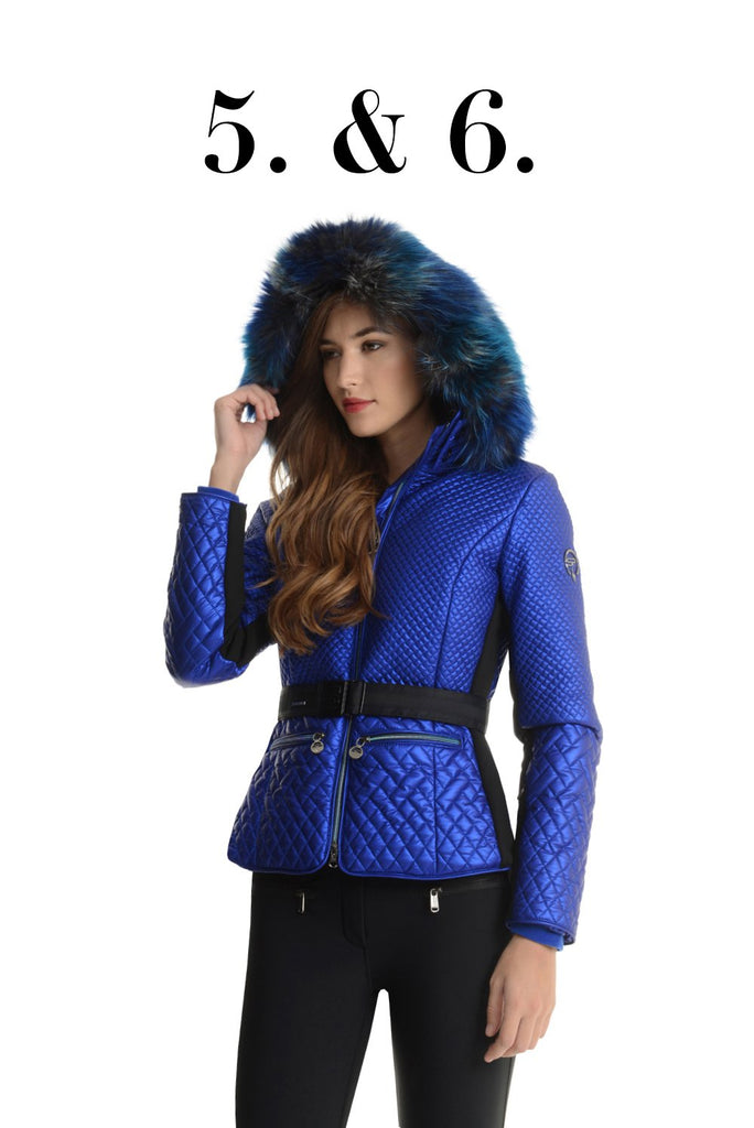 88c5569e02 And now for a splash of blue for the slopes in this stylish ski jacket from  Sportalm. With graduated tints of blues