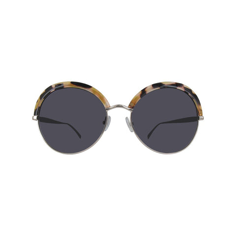 Max Mara Half Frame Sunglasses in Havana Light
