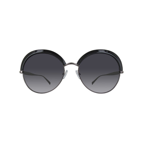 Max Mara Half Frame Sunglasses in Black