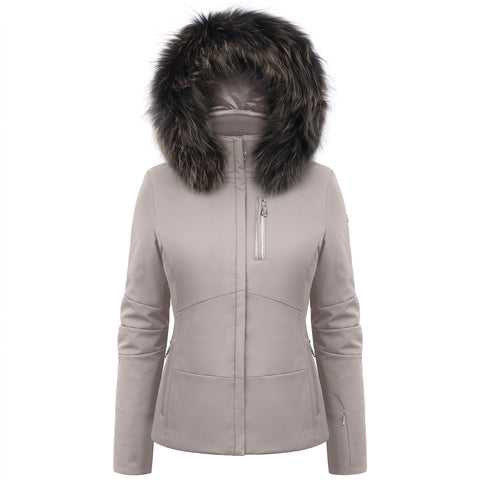 Poivre Blanc Soba Brown Ski Jacket W19-0802/B with Fur Trim
