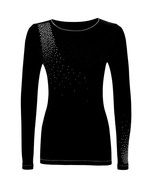 S'No Queen Silk Classic Crew Black Thermal Base Layer