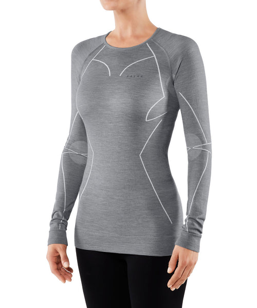 Falke Longsleeved Grey Ski Base Layer