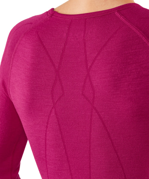 Falke Longsleeved Ski Base Layer in Berry