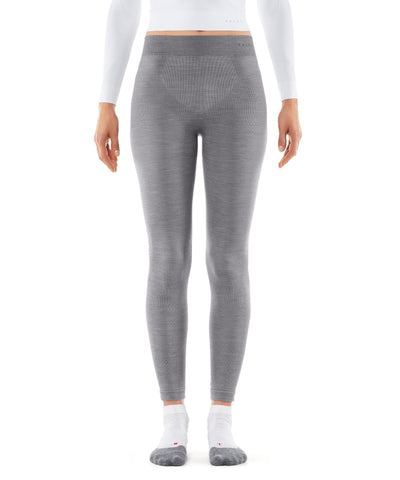 Falke Thermal Wool Ski Leggings in Grey Heather