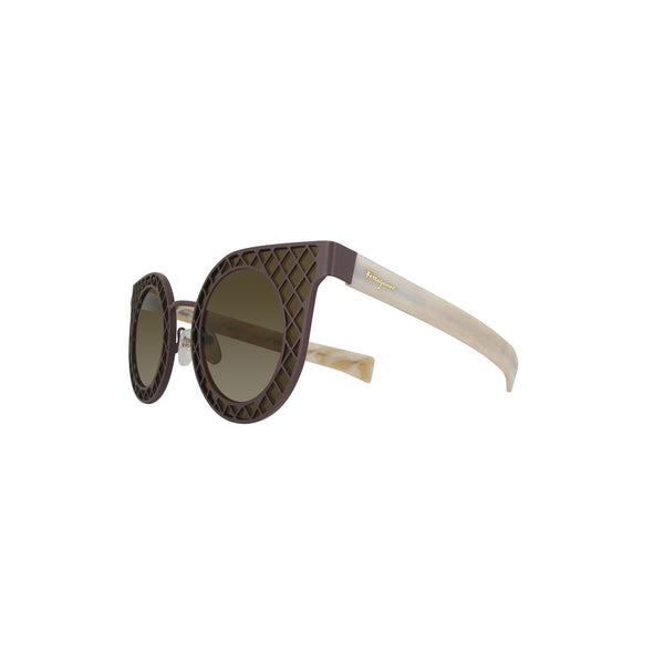 Salvatore Ferragamo Sunglasses SF171S in Matte Brown/Ivory
