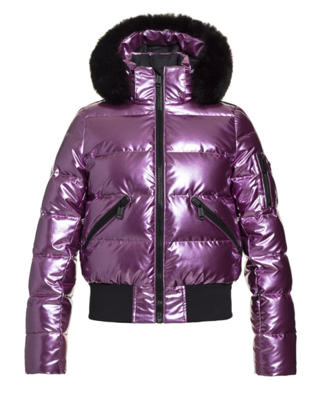 Goldbergh Aura Orchid Downfilled Ski Jacket with Fur Trim