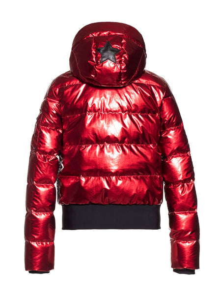 Goldbergh Aura Red Downfilled Ski Jacket with Hood
