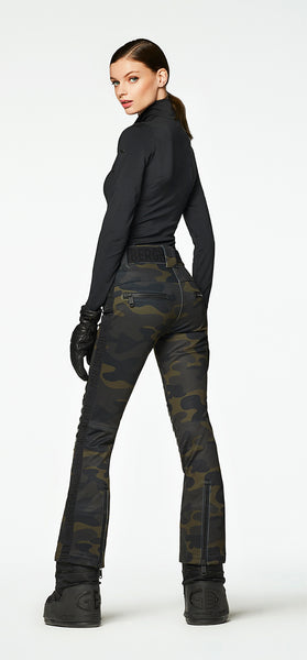 Goldbergh Battle Camo Ski Pants with Leather Look Knee Pads