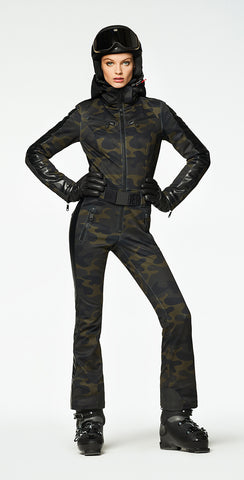 Goldbergh Bush One Piece Ski Suit in Camo