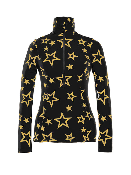 Goldbergh Clarisse Base Layer in Black with Gold Stars
