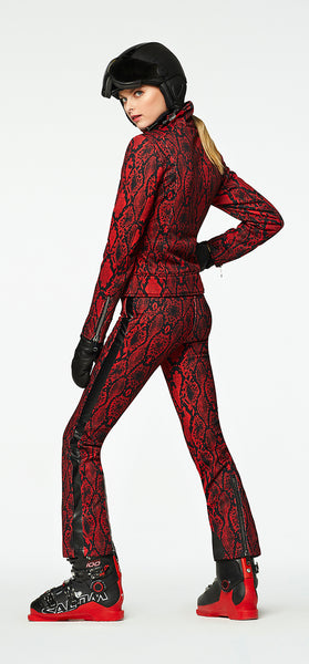 Goldbergh Diamond Stretch Ski Pant in Red Python