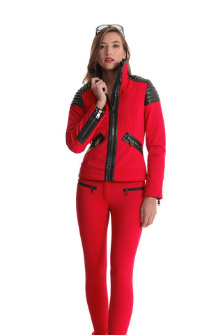 Goldbergh Paris Red Skinny Stirrup Ski Pant