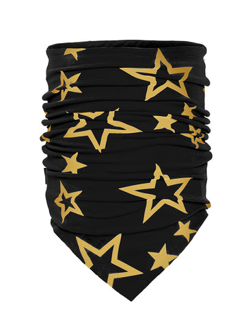 Goldbergh Estelle Scarf Neckwarmer in Black with Gold Stars
