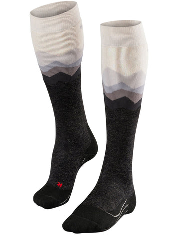 Falke SK2 Crest Ladies Ski Socks in Wool White
