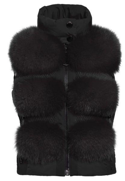 Goldbergh Foxy Faux Fur Gilet in Black