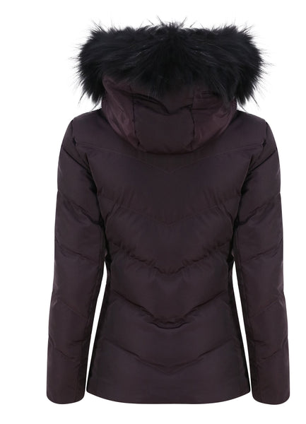 Fusalp Davai Wine Ski Jacket with Fur Trimmed Hood