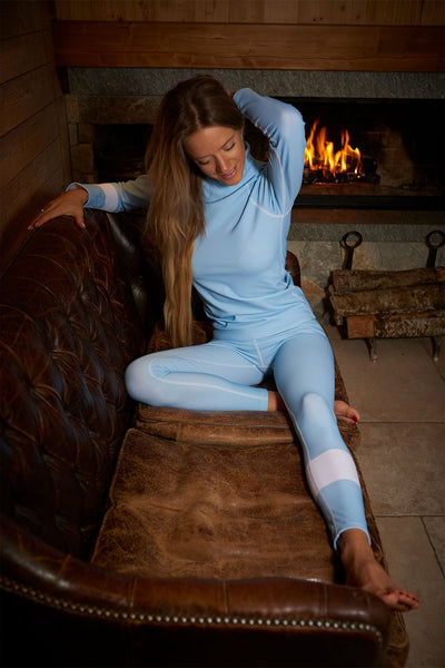 Henrietta Holderness Glacier light blue ski thermal