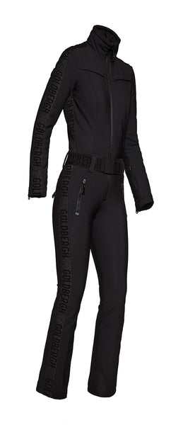 Goldbergh Goldfinger One Piece Black Ski Suit Longer Length