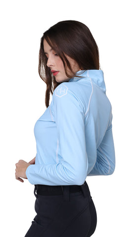 H. Holderness Glacier Thermal Top in Ice Blue