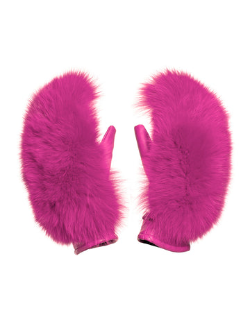 Goldbergh Hando Luxury Pink Fur Mittens