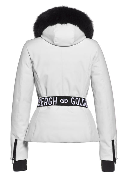 Goldbergh NEW Hida White Ski Jacket with Fox Fur Trimmed Hood