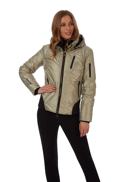 High Society Ruby Ski Jacket in Pale Gold