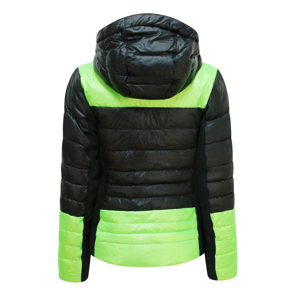 Kelly by Sissy Sylvie Black and Lime Ski Jacket with Hood