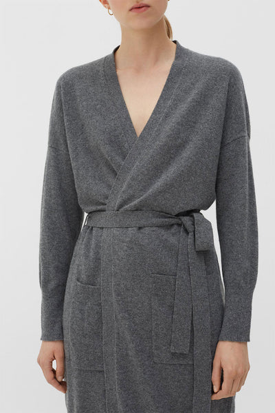 CHINTI & PARKER Grey Cashmere Duster Cardigan