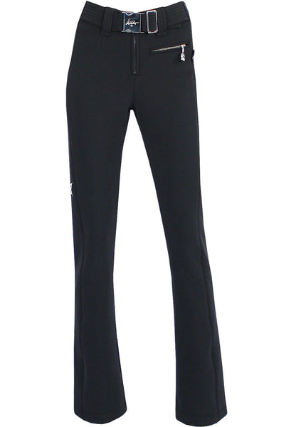 High Society Lani Softshell Ski Pant in Black and Silver