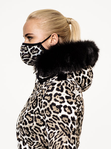 Goldbergh Loes Face Mask in Leopard