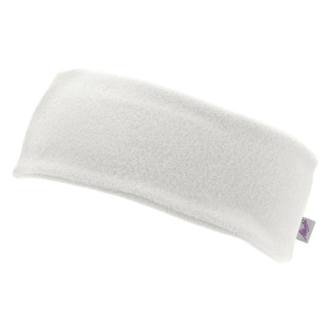 Manbi Fleece Headband in Winter White