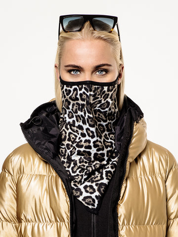 Goldbergh Marf Leopard Face Mask