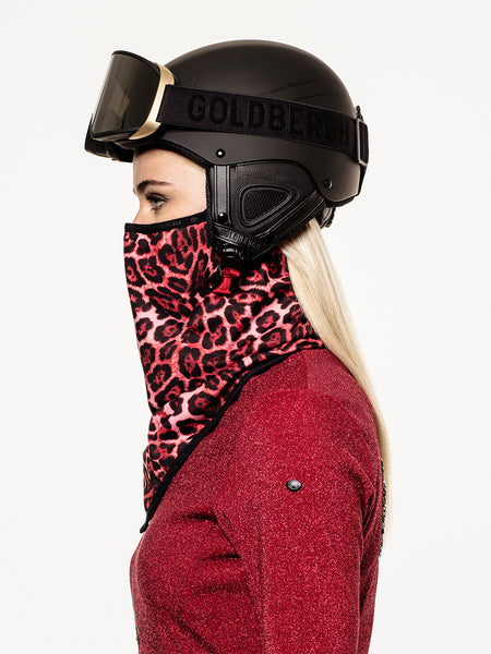 Goldbergh Marf Red Leopard Face Mask