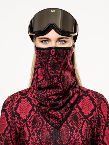 Goldbergh Marf Red Python Face Mask