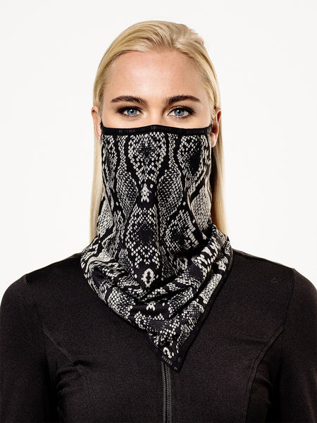 Goldbergh Marf Sand Python Face Mask